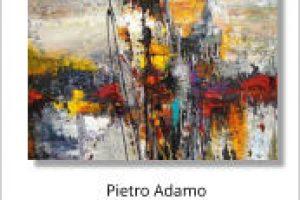 Pietro Adamo abstract paint on canvas, 40x30