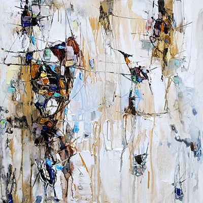 PAINTING CIRCLES THERAPY MODERN  PRINT CANVAS WALL ART PICTURE AB837  MATAGA