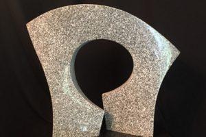 David Green Portal 5 granite sculpture, 12x14x4