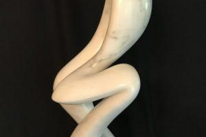 David Green Serpentina Vermont marble sculpture, 9x10x22