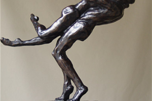 Elizabeth Jenkins Culp Reunion bronze steel sculpture, 13x6x16
