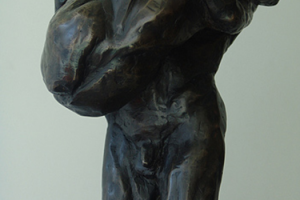Elizabeth Jenkins Culp Un Abbraccio bronze mahogany sculpture, 9x8x20