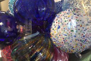 Thames Glass + Little River Hot Glass ornamental balls