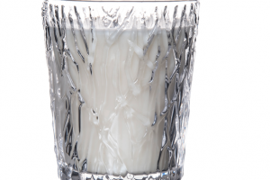 Simon Pearce lead-free crystal Silver Lake candle holder
