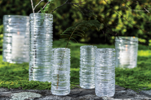 Simon Pearce lead-free crystal Echo Lake vase collection