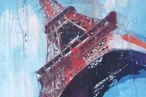 Eiffel Tower print on canvas, 50x50