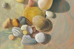 Sharon Cosgrove Estuary acrylic + oil on canvas, 10x10