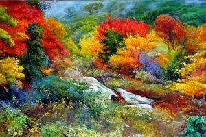 Vyacheslav Shevchenko Bear Creek, Pennsylvania oil on canvas, 48x24