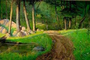 Vyacheslav Shevchenko May, Francis Slocum State Park oil on canvas, 186x69