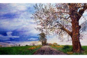 Frank Wengen Approaching Storm watercolor