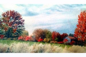 Frank Wengen Buttermilk Sky watercolor