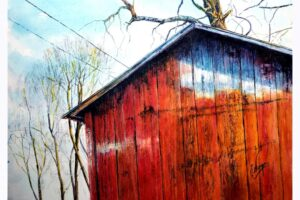 Frank Wengen Detail Study for Red Shed watercolor