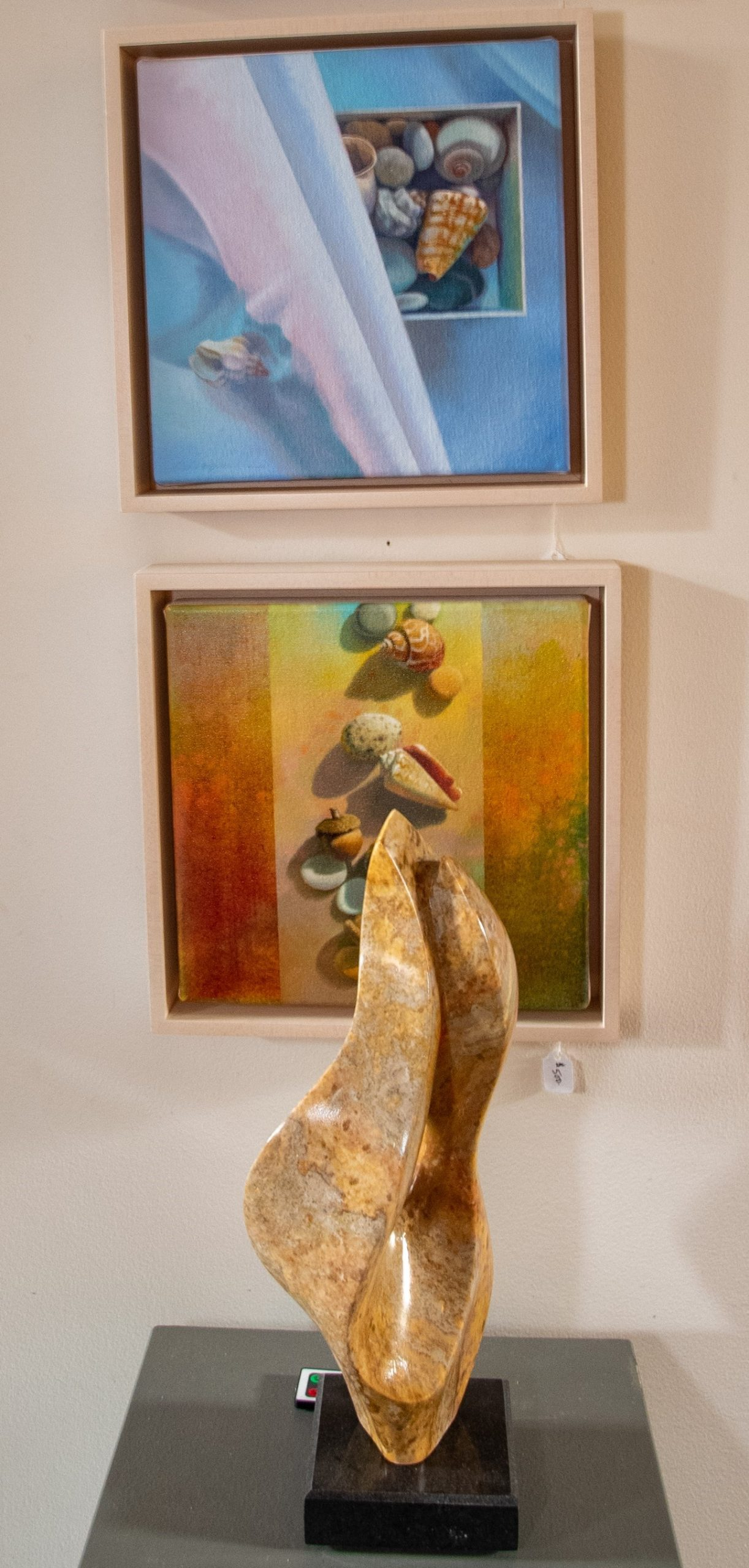 Sharon Cosgrove paintings   David Green sculpture