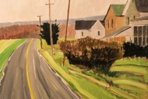 Earl Lehman Spring Road oil on canvas, 16x16