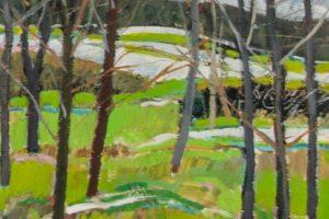 Earl Lehman Spring oil on canvas, 16x16