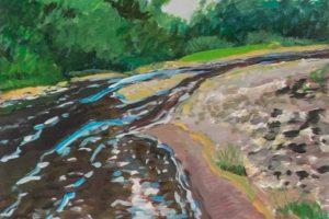 Earl Lehman Wyalusing Creek oil on canvas, 16x16