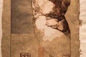 Sylviane Canini Naissance II etching, 17x26.5