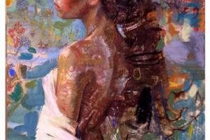 Charles Dwyer Island Muse limited edition giclee print,42x32