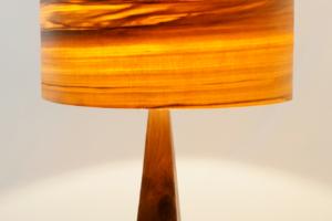 Mike Scribner wood wedge lamp