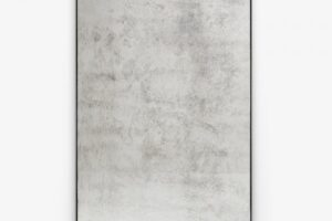 Example of American-made mirror with light distressing
