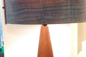 Mike Scribner Walnut+Curly Olive Ash Wedge Lamp, 12x24