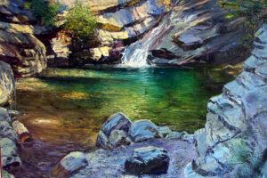 Vyacheslav Shevchenko Seven Tubs State Park landscape oil on canvas, 50x60