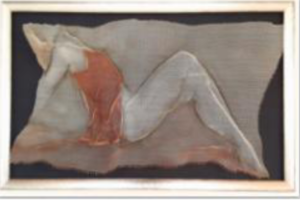 Bonnie Shanas wire mesh reliefAll That I Am, 25x22x5